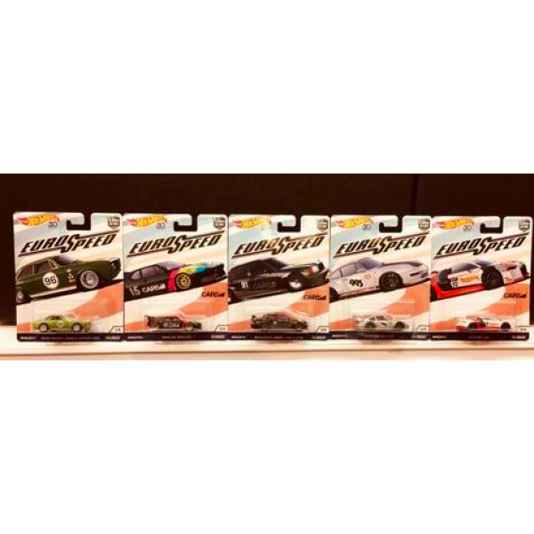 Hot Wheels Car Culture 2018 Euro Speed Set Of 5pcs