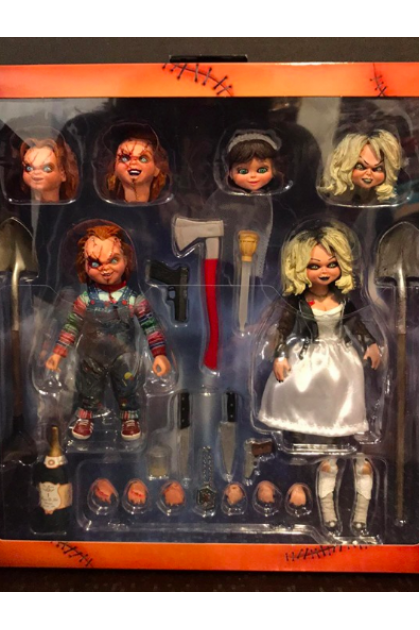 Child's Play Neca Ultimate Bride of Chucky Tiffany & Chucky 2 Pack Action Figure (AF09)
