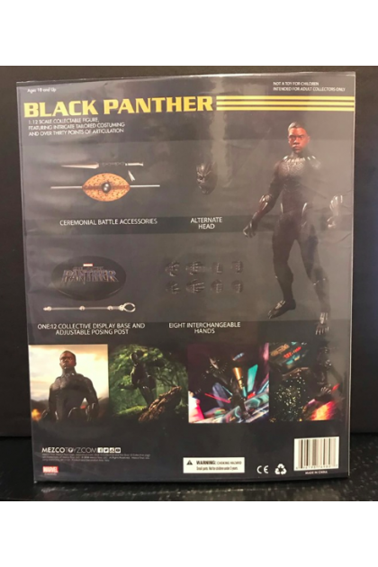Marvel Mezco Toyz One:12 Collective Black Panther Movie Action Figure (AF73)
