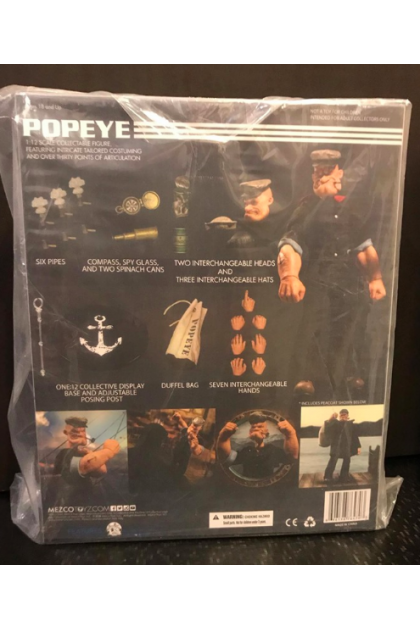 Popeye Mezco Toyz One:12 Collective Action Figure (AF82)