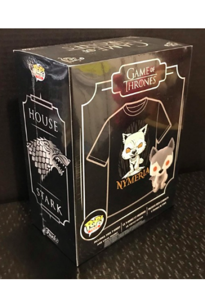 Game of Thrones Nymeria Box Set Funko Pop! with T-Shirt Hot Topic Exclusive M Size (VINYL73)