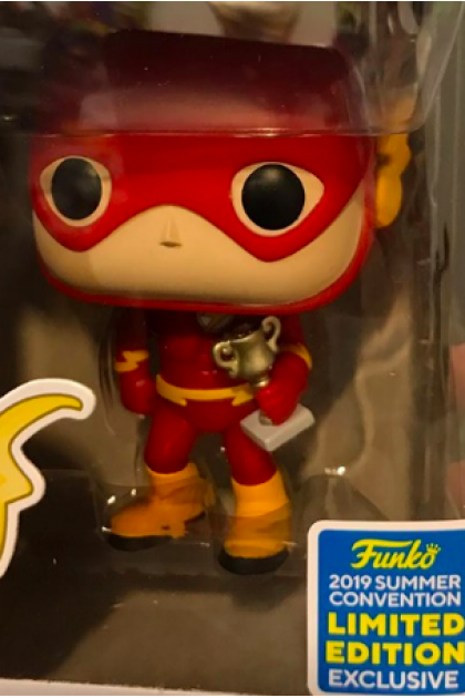 The Big Bang Theory Sheldon Cooper as The Flash Funko Pop! #833 Summer Convention 2019 Exclusive (VINYL243)
