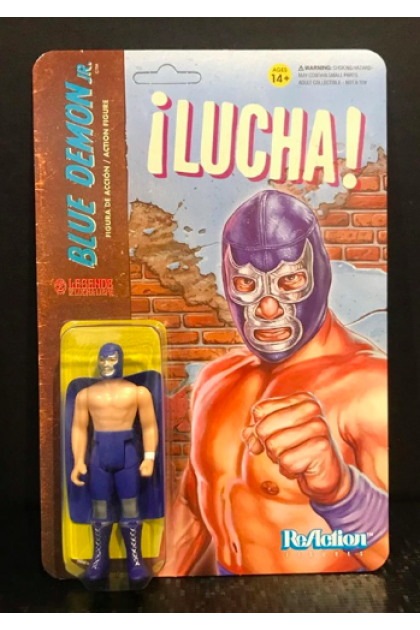 "ReAction Figures Super7 Lucha Blue Demon Jr. 3.75"" Action Figure (AF169)"