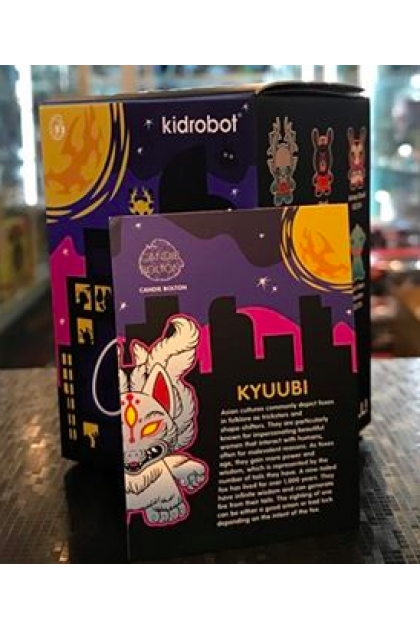 Kidrobot City Cryptid Dunny Series Kyuubi 1/24 Vinyl Mini Figure by Candie Bolton (ART72)