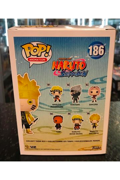 Funko Pop Naruto Shippuden Naruto Six Path GITD #186 Hot Topic Exclusive (VINYL922)