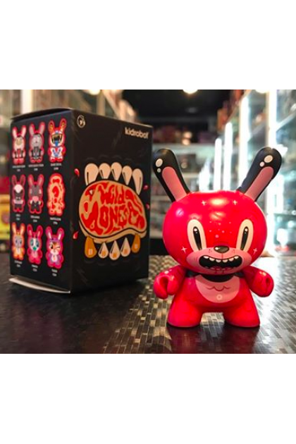 Kidrobot The Wild Ones Dunny Series Bubblegum Bear Vinyl Mini Figure by Squink (ART92)