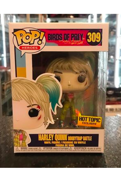 Funko Pop Birds Of Prey Harley Quinn Boobytrap Battle 309 Hot Topic Exclusive Vinyl1056
