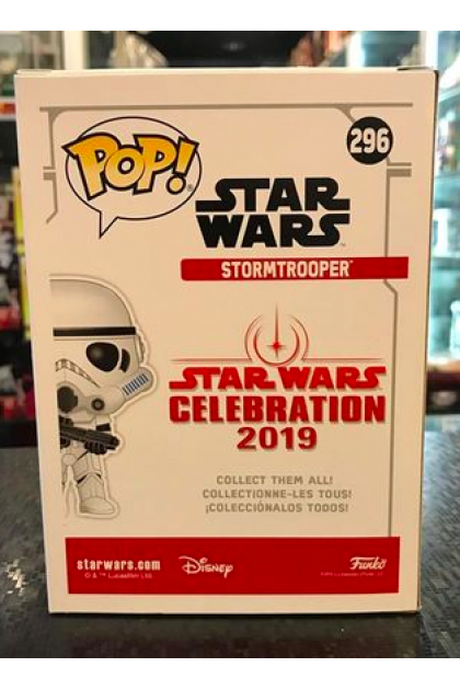 Star Wars Stormtrooper Chrome Gold Funko Pop! #296 Galactic Convention 2019 Exclusive (VINYL1097)