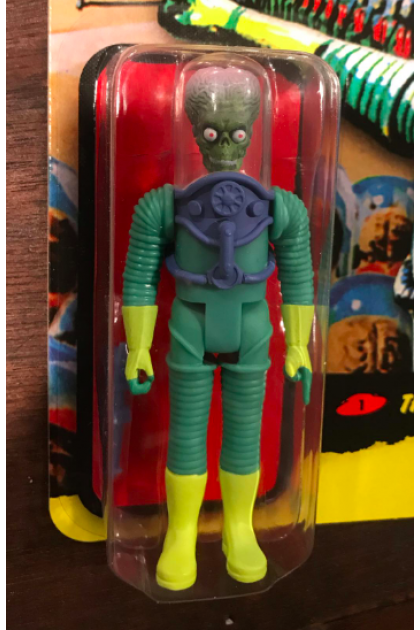 "Super7 Mars Attacks Mars Alien with Gun 3.75"" ReAction Figure (AF344)"