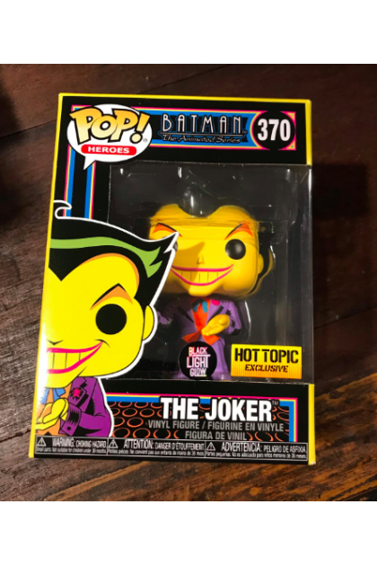 DC Batman The Animated Series Black Light The Joker Funko Pop! #370 Hot Topic Exclusive (VINYL1419)