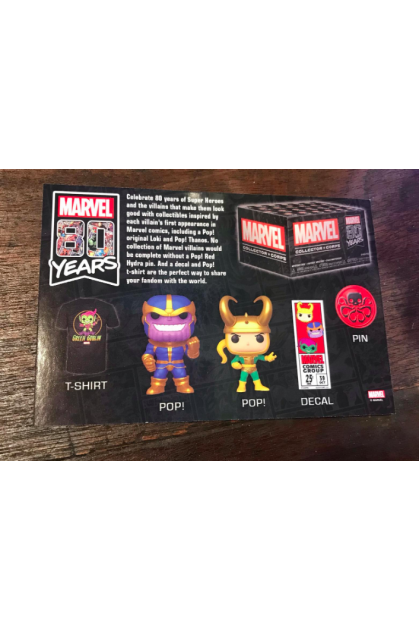 Marvel Funko Collectors Corps Marvel 80th Anniversary September 2019 Box Set Exclusive T-Shirt M Size (VINYL1429)