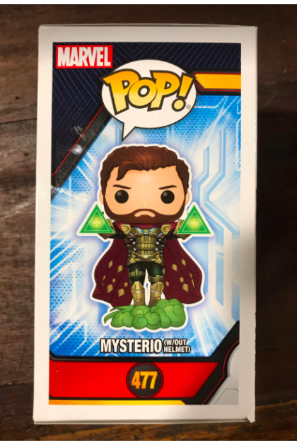 Spider-Man Far From Home Mysterio Without Helmet Funko Pop! #477 Hot Topic Exclusive (VINYL1448)
